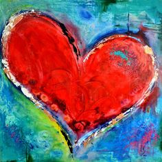 Buy Love & Heart Paintings on Canvas - Ivan Guaderrama Art Gallery Heart Painting, Love Painting, Heart Art, Love Heart, Heart Pictures, Heart Images, Painting Inspiration, Art Lessons, Art Drawings