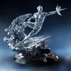 Iceman - XM Studios by Philip Herman 3d Figures, Action Figures, Marvel Dc Comics, Anime Comics, Coleccionables Sideshow, Iceman Marvel, Marvel Statues, Wolverine Art, Ssj3