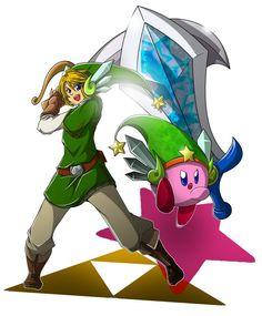 Link & Kirby - #Zelda30