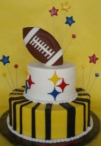 There are so many fun and easy to use football cake and cupcake decorating supplies on the market.  Some of the supplies include specialty cake pans, cupcake picks, cake kits and edible cake toppers.