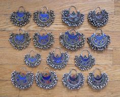 Kuchi tribal earrings.
