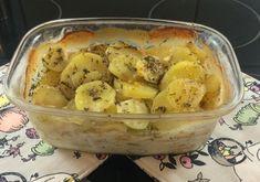 Póréhagymás tepsis krumpli