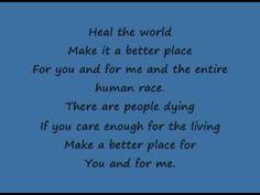 Michael Jackson - Heal the World Lyrics   Musixmatch