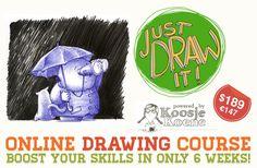 Online drawing course - Koosje Koene - Learn to draw: colour @Koosje Koene Koene @Kristin :: Teal White Garden Holt #draw #kholt