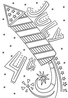 July fourth hat coloring page for preschool Fun and Free