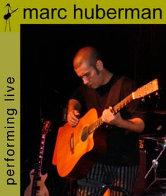 Live acoustic music at the wine tasting from Marc Huberman.