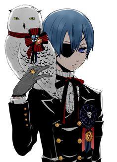 Ciel Phantomhive     Watch in English or Japanese  Kuroshitsuji S1 (Black Butler S1)  http://dubbedanime.net/anime/black-butler-english-dubbed         Kuroshitsuji S2 (Black Butler S2)          http://dubbedanime.net/anime/black-butler-ii-english-dubbed  Kuroshitsuji: Book of Circus http://animewaffles.tv/Details-Kuroshitsuji-Book-of-Circus-1327