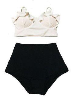 High Waist Swimsuit Bikinis Women Plus Size Swimwear Bathing Suits Vintage Retro Floral Push Up Bikini Set Beach Wear XL