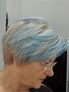 #hairstiling #blu grey White