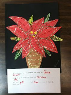 Nice Poinsettia Collage from ART with Mrs. Smith