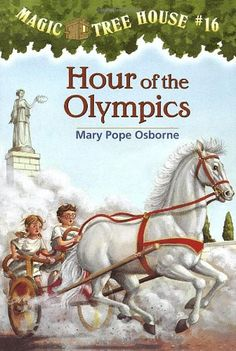 """Hour of the Olympics (Magic Tree House #16), """"That's the rule when the Magic Tree House whisks Jack and Annie back to ancient Greece. But when Annie tells jack to go to the games without her, he knows she's up to something. Will Annie find a way to see the games?"""""""