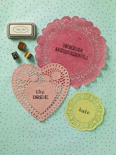 How to make wedding place settings - DIY & craft - YouAndYourWedding. Pinterested @ wedspiration.com.