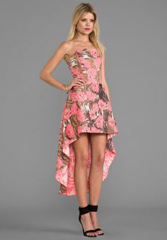 ALEXIS Madame Dress in Metallic Rose - Dresses