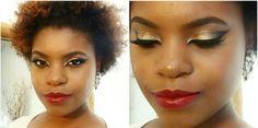 Tutorial – maquiagem dourada com batom vinho