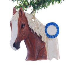 Chestnut Horse Resin Christmas Ornament Hand by Christmaskeeper