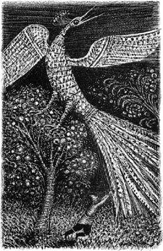 'Russian folk tales' by Boris Zabirokhin - The Firebird Russian Folk, Russian Art, Fenix Bird, Magritte, Illustrations Posters, Fairy Tales, Illustration Art, Drawings, Artwork