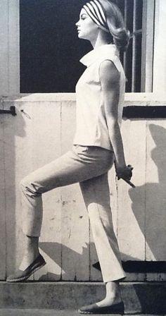 Jean Shrimpton photographed by Michel Molinaire for Harper's Bazaar July 1962