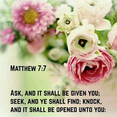 Matthew 7:7 KJV