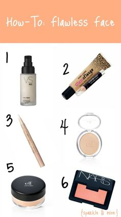 Makeup tips + product suggestions to achieve a flawless face. Most of the products are super affordable too- $5 mineral concealer? I think yes!