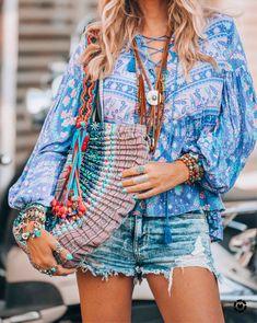 Boho chic hippie style