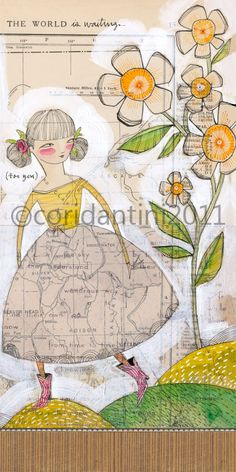 The WOrld is waiting... for you - limited edition archival print by cori dantini. $20.00, via Etsy.