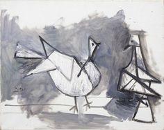 Pablo Picasso Deux Pigeons Olio su tela, cm. 65x81 Stima € 450.000 / 600.000 Lotto n. 599