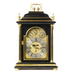 A George I gilt-brass mounted ebony bracket clock, Claudius Du Chesne, London<br>circa 1720 | Lot | Sotheby's