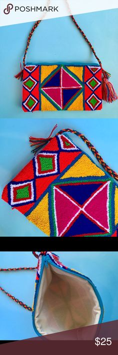 Boho colorful cross body bag  💓 Perfect for the Summer , Handmade product. Brand new Bags Crossbody Bags