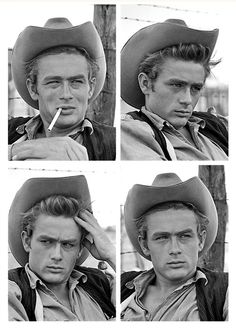 james dean, in Giant....