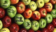 Apple Gramm sends an Apple, Potato or Sweet Potato to anyone in the U.S.A. with your message or note written on it. #AppleGramm, Mail an Apple, Apple Telegramm, Send an Apple,