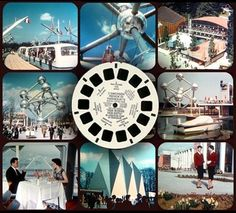 Expo '58, Brussels World's Fair: View-Master reel and a compilation of some of the scenes that could be viewed with the souvenir set. [pr]