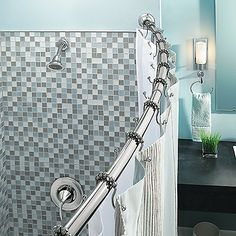 Buy Moen® Adjustable Curved Chrome Shower Rod from Bed Bath & Beyond