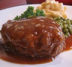 """The Very Best Salisbury Steak: """"When I added the French onion soup to the ground beef, I knew it would be a winner. If you plan to serve this with mashed potatoes, double or even triple the gravy!"""" -Christmas Carol"""