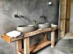 Earthy Bathroom, Narrow Bathroom, Bathroom Spa, Bathroom Design Small, Laundry In Bathroom, Bathroom Interior Design, Casa Loft, Rustic Patio, Wood Bath