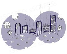 Dandelion Skyline INDIGO is an original sSCAPESs handmade drawing that was digitally enhanced. It is an abstract illustration of an imaginary skyline with several dandelions and whimsical houses on two hills. Purple Art, Green Art, Teal, Turquoise, Wall Decor, Wall Art, Abstract Landscape, Nursery Art, Home Art