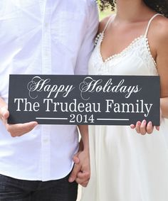 Look at this 'Happy Holidays' Family Personalized Wall Sign on #zulily today!