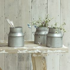 CHURNIE. Inspired by old-fashioned milk churns, these cuties make brilliant vases, pen holders or table decorations.