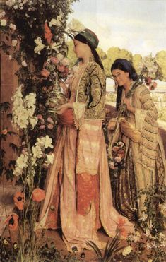 In the Bey´s Garden… A painting by John Fredrick Lewis, portraying life at the Palace in the 19th century… probably Istanbul during the Ottoman Empire reign…