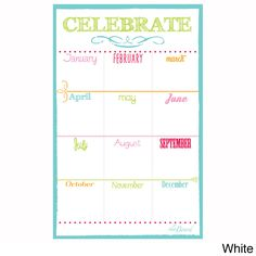 AlaBoard Birthday Calendar Magnet Board