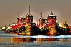 tugboats at work