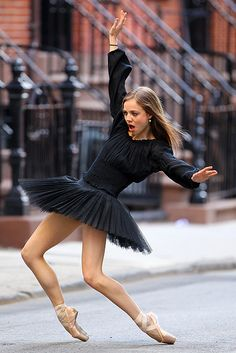 Joffrey Ballet School Sexy Ballerina Poses on Gay Street New York City