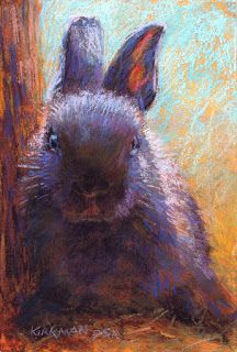 """""""TruffleBun (pastel, inches) sold This one was begging for a very small size! TruffleBun will be with me at the Bayou City Art F. Pastel Landscape, Watercolor Projects, Color Pencil Art, Paintings I Love, Fantastic Art, City Art, Art Festival, Fine Art Gallery, Watercolor Illustration"""