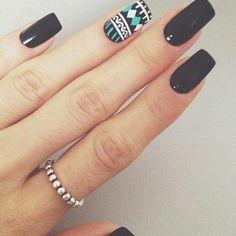 Unhas cor preta, unhas decoradas curtas, unhas pretas decoradas, un Best Acrylic Nails, Acrylic Nail Designs, Nail Art Designs, Nails Design, Fabulous Nails, Gorgeous Nails, Pretty Nails, Manicure And Pedicure, Gel Nails