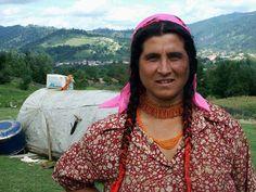 Kalderari gypsy in Romania. Portrait of a gypsy. 2006. Photo: Louise Putsu.