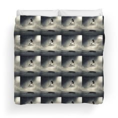 Sureal/conceptual Scenery Of Young Girl On Swing | Duvet Cover