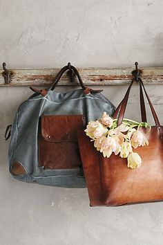 Lovely leather totes #AnthroFave