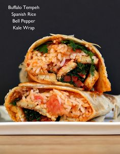 Buffalo Tempeh Spanish Rice Bell Pepper Kale Wrap | 16 Reasons It's Time For Tempeh To Take Over Your Life