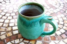 Turquoise Mug Made to Order by pagepottery on Etsy