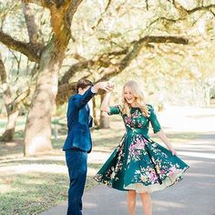 "<a class=""pintag"" href=""/explore/OOTD/"" title=""#OOTD explore Pinterest"">#OOTD</a> goals forever & ever. (Vintage Deep Green Seville Floral Half Sleeve Hepburn Swing Dress)"
