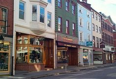Market Street - Portsmouth, NH - love the colors of the buildings and the signs downtown!